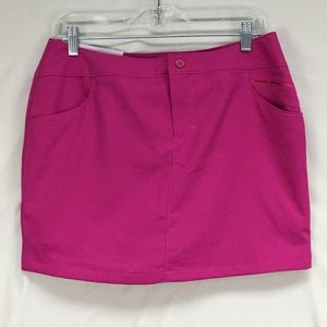 Under Armour Pink Magenta Golf Textured Skort Sz 8
